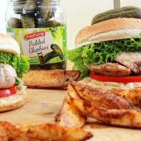 Every burger needs Pickled Gherkins, especially when it's grilled Chicken Burger